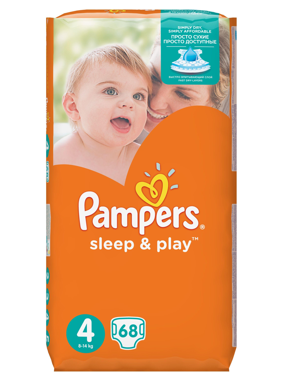 Pampers Sleep & Play Dětské pleny velikost 4 Maxi 68 ks