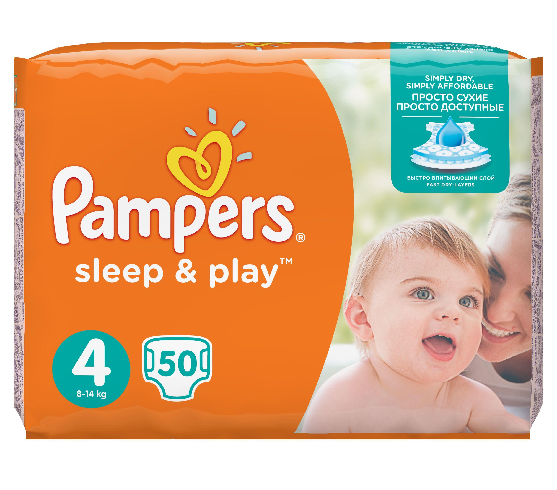 Pampers Sleep & Play Dětské pleny velikost 4 Maxi 50 ks