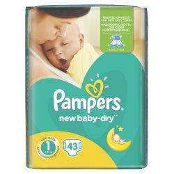 Pampers New Baby-Dry vel. 1 Newborn dětské pleny 43 ks