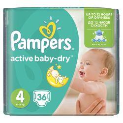 Pampers Active Baby-Dry Dětské pleny velikost 4 Maxi 36 ks