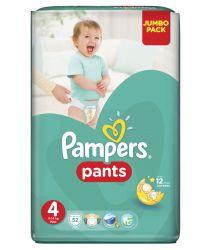 Pampers Pants vel. 4 Maxi plenkové kalhotky 52 ks