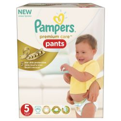 Pampers Premium Care Pants vel. 5 Junior plenkové kalhotky 40 ks