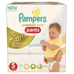 Pampers Premium Care Pants vel. 5 Junior plenkové kalhotky 20 ks
