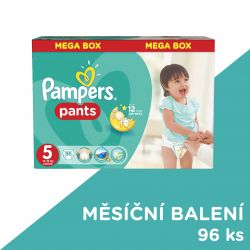 Pampers Pants vel. 5 Junior plenkové kalhotky 96 ks