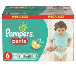 Pampers Pants plenkové kalhotky velikost 6 Extra Large 88 ks