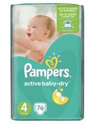 Pampers Active Baby-Dry Dětské pleny velikost 4 Maxi 76 ks