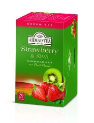 Ahmad Tea Green Tea Strawberry & Kiwi porcovaný čaj 20 sáčků