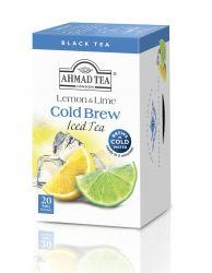 Ahmad Tea Cold Brew lemon and lime porcovaný čaj 20 x 2 g