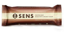 SENS Protein bar Arašídové máslo & skořice s cvrččí moukou tyčinka 60 g