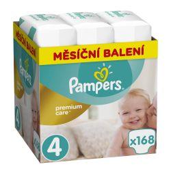 Pampers Premium Care Maxi 8–14 kg dětské pleny Monthly Box 168 ks