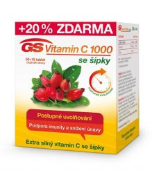 GS Vitamin C 1000 se šípky 50+10 tablet