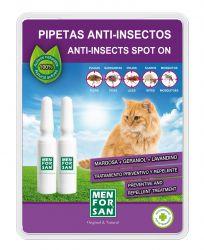 Menforsan Antiparazitní pipety proti blechám a klíšťatům pro kočky - 2 x 1,5ml