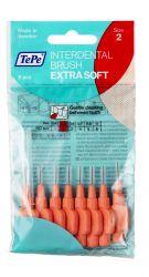 Tepe Mezizubní kartáčky EXTRA SOFT světle červené 0,5 mm sáček 8 ks