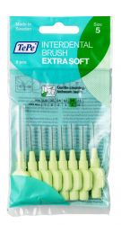 Tepe Mezizubní kartáčky EXTRA SOFT světle zelené 0,8 mm sáček 8 ks