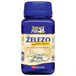 VitaHarmony Železo 20 mg s kyselinou listovou SmartPills 60 tablet