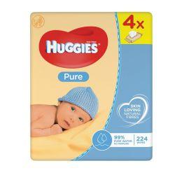 Huggies Pure ubrousky 4x56 ks