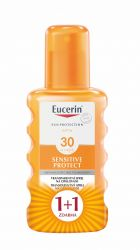 Eucerin SUN Sensitive Protect SPF30 transparentní sprej 2x200 ml 1+1 ZDARMA