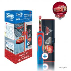 Oral-B Vitality Kids Cars dětský elektrický zubní kartáček + cestovní pouzdro