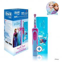 Oral-B Vitality Kids Frozen dětský elektrický zubní kartáček + cestovní pouzdro