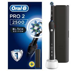 Oral-B PRO 2 2500 Black Edition CrossAction elektrický zubní kartáček