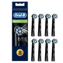 Oral-B CrossAction Black EB50-8 náhradní hlavice 8 ks