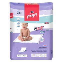 Bella Baby Happy Přebalovací podložky 60x90 cm 5 ks