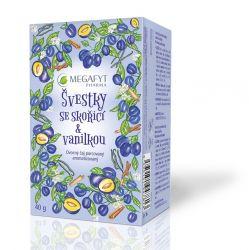 Megafyt Švestky se skořicí & vanilkou ovocný čaj porcovaný 20x2 g