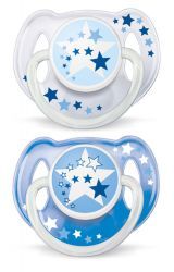 Avent Noční 6-18 měsíců šidítko bez BPA 2 ks