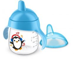 Avent Premium 260 ml hrnek pro 1. doušky 1 ks modrý
