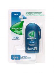Nicorette Mint 4 mg 20 lisovaných pastilek