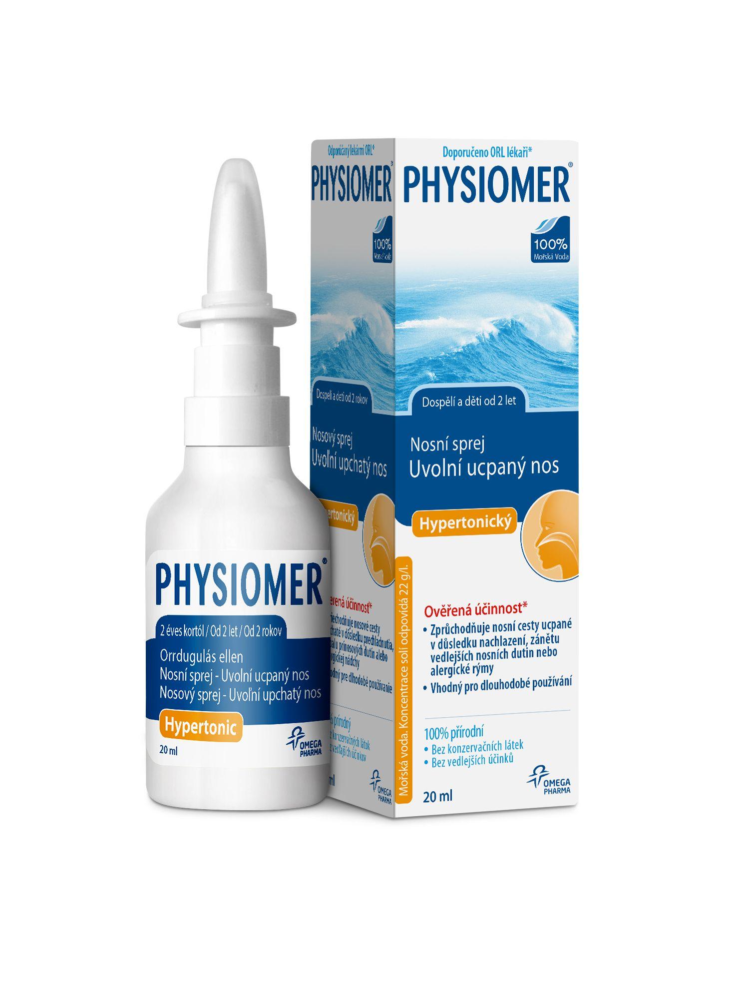 Physiomer Hypertonický nosní sprej 20 ml
