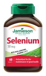 Jamieson Selen 50 µg s betakarotenem a vitamíny C a E 60 tablet