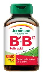 Jamieson Vitamíny B6, B12 a kyselina listová 110 tablet