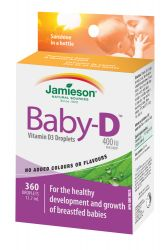 JAMIESON Baby-D Vitamín D3 400 IU kapky 11,7ml