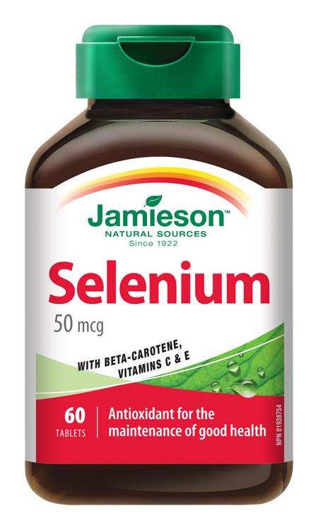JAMIESON Selen 50µg s betakarotenem a vitamíny C a E tbl.60