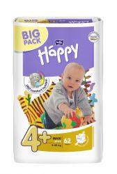 Bella Baby Happy Maxi+ 9-20 kg dětské plenky 62 ks