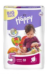 Bella Baby Happy Junior 12–25 kg dětské plenky 58 ks