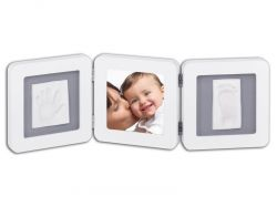 Baby Art Double Print Frame White & Grey rámeček
