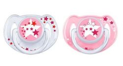 Avent Noční 6-18 měsíců šidítko bez BPA 2 ks pro dívky