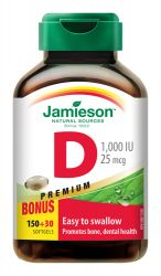 Jamieson Vitamín D3 1000 IU 180 kapslí