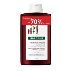 KLORANE Šampon s chininem 2x400 ml
