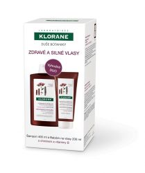 KLORANE Šampon s chininem 400 ml + Balzám 200 ml