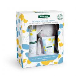 KLORANE Bébé Xmas mycí gel + hydratační mléko + zajíc