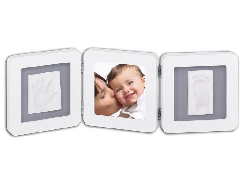 Baby Art Double Print Frame White & Grey rámeček