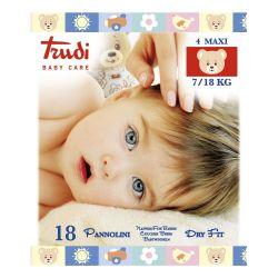 Trudi Dětské pleny Dry Fit s vrstvou Perfo-Soft maxi 7-18 kg 18 ks