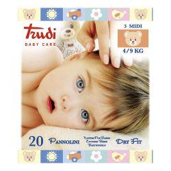 Trudi Dětské pleny Dry Fit s vrstvou Perfo-Soft medium 4-9 kg 20 ks