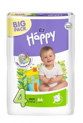 Bella Baby Happy Maxi 8-18 kg dětské plenky 66 ks