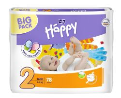 Bella Baby Happy Mini 3-6 kg dětské plenky 78 ks