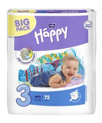 Bella Baby Happy Midi 5-9 kg dětské plenky 72 ks