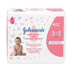 Johnson's Baby Gentle All Over vlhčené ubrousky 224 ks